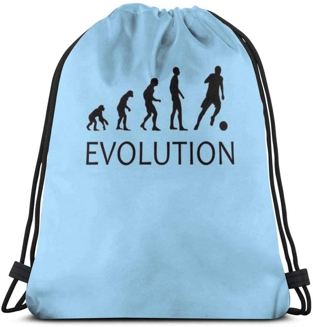 Backpack Drawstring Bags Cinch Sack String Bag Evolution Football Sport Sackpack For Beach Sport Gym Travel Yoga Camping Shopping School Hiking Men Women