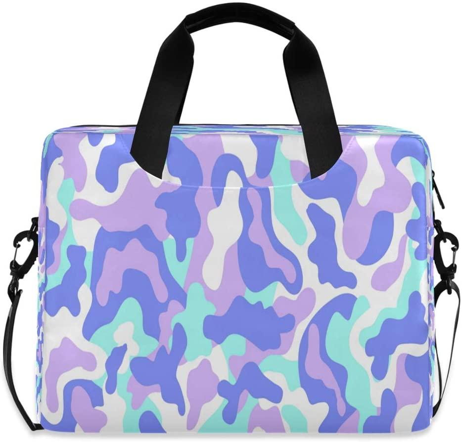 Laptop Bag Briefcase Shoulder Bag - Contemporary Camouflage Pattern 15.6 Inch Tote Bag Laptop Messenger Shoulder Bag Laptop Carrying Bag, Great to School, Travel