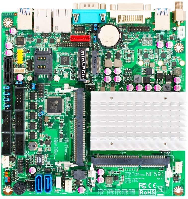 Jetway NF591-3160 Intel Celeron N3160 Dual LAN Industrial Mini-ITX Motherboard