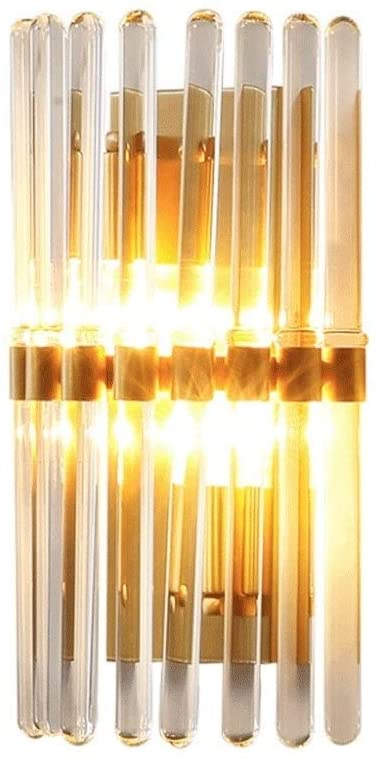 Wylolik Nordic Luxurious H65 All Copper Wall Lamp Single Head Mirror Headlight Lamp Brushed Gold Finish Wall Light Background Wall Illumination Lounge Dining Room Sconce Lamp E142
