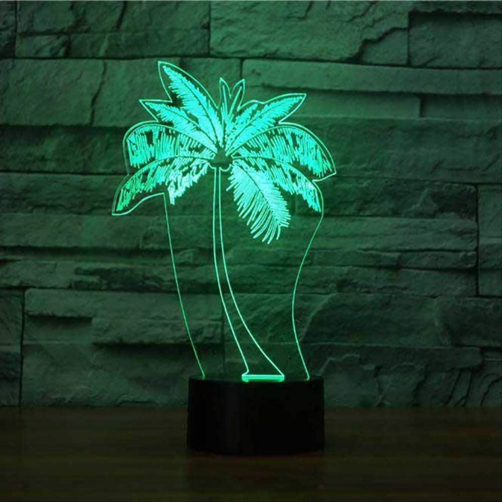 WisdomMi Led Light Coconut LED 3D Lamp Remot Touch Switch 7 Color Change USB Desk Table Lamp Plant 3D Night Light Best Child Gift Smart Bluetooth 16 Million Colors
