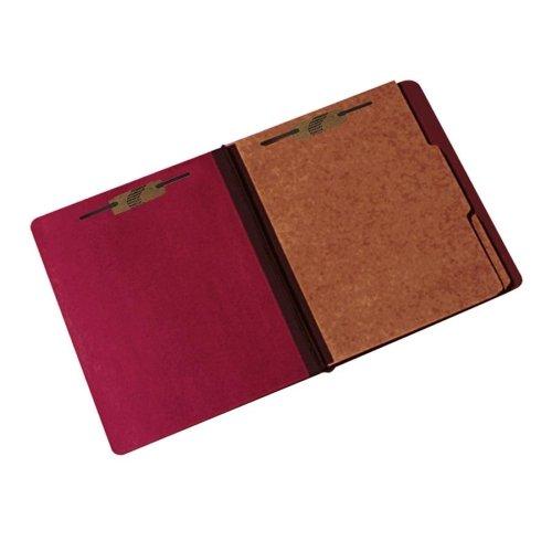 Pressboard Classification Folder - 2 Divider, 6 Part - Letter - Earth Red