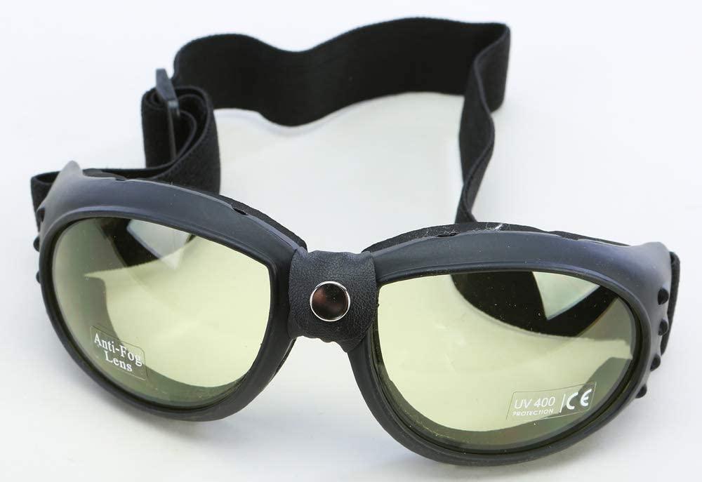 Emgo Bandito Goggles Black/Amber Lens (Black)
