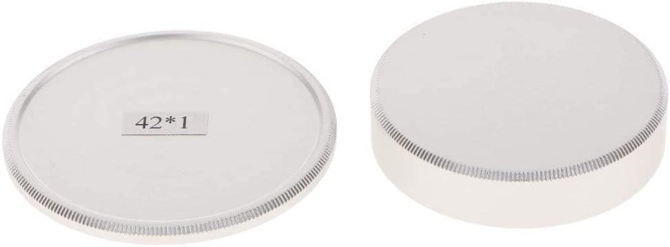 Aluminum Body Cap Rear Lens Cap Cover for Leica M42 Lens and Cameras-Silver