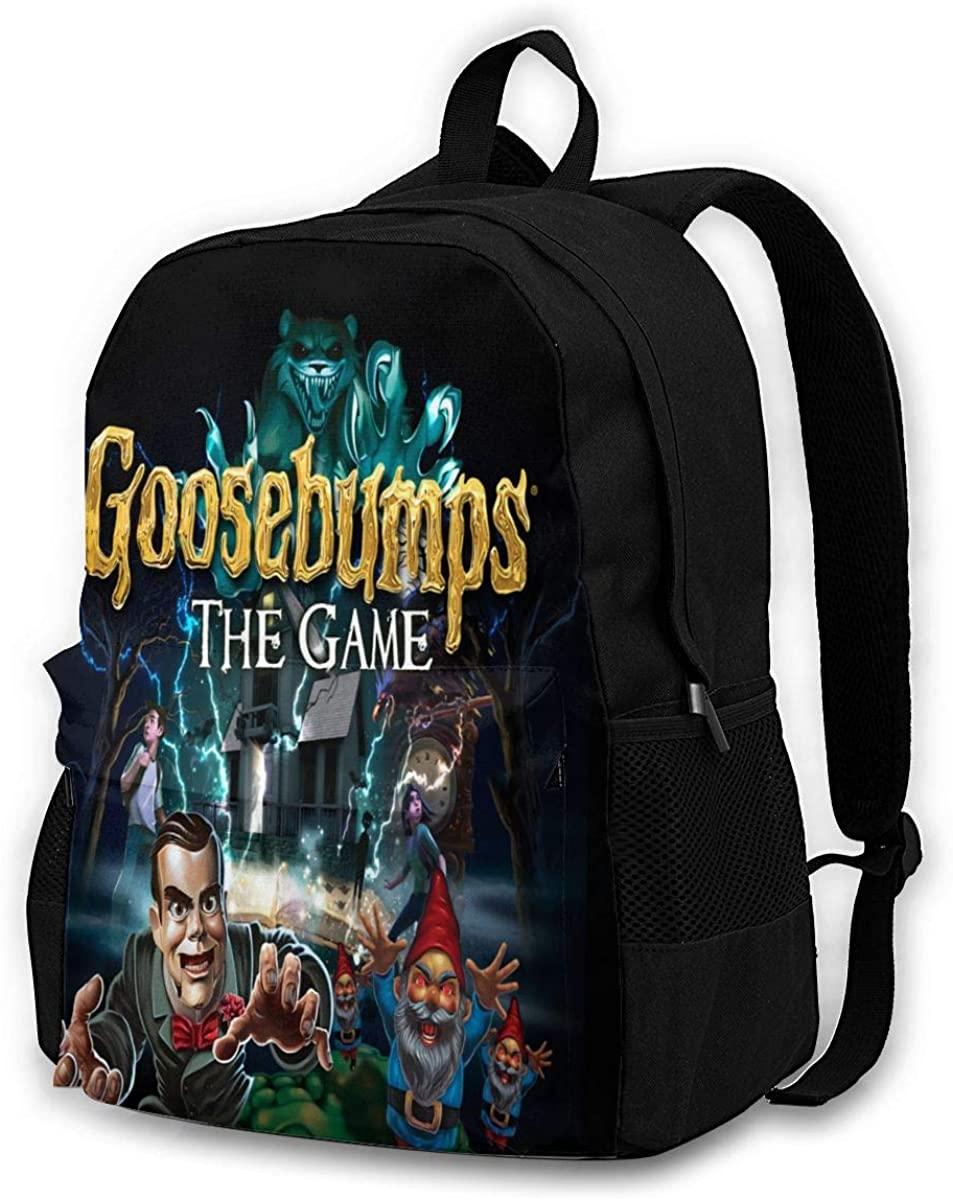 N/D Goosebumps Unisex Backpack Shoulder Bags Knapsack Boys Girls Laptop Outdoor Men Women