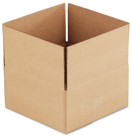 Universal Office Products 166538 Corrugated Kraft Fixed-depth Shipping Carton, 12w X 12l X 6h, Brown, 25/bundle