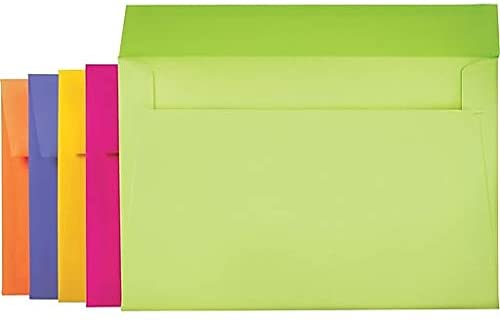 1InTheOffice A9 Invitation Greeting Card Envelopes Brights Colored 5 3/4