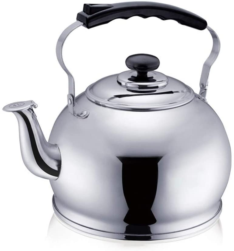 Whistle kettle Teapot, Gas Kettle, Stainless Steel, Whistling, Household Thickening, Large Capacity, Hotel, Kettle, 5L Stainless steel kettle