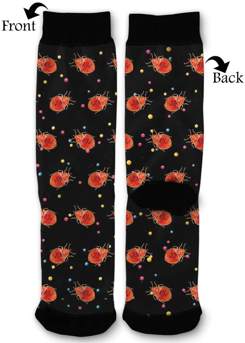 Bed Bug Worth Socks Funny Fashion Novelty Advanced Moisture Wicking Sport Compression Sock for Man Women