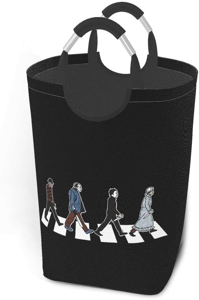1743 Abbey Road Killer Horror Movie Michael Myers Jason Voorhees Freddy Krueger Pennywise Foldable Laundry Laundry Hampers for Laundry Foldable Clothes Hamper for Toys and Clothes Organization