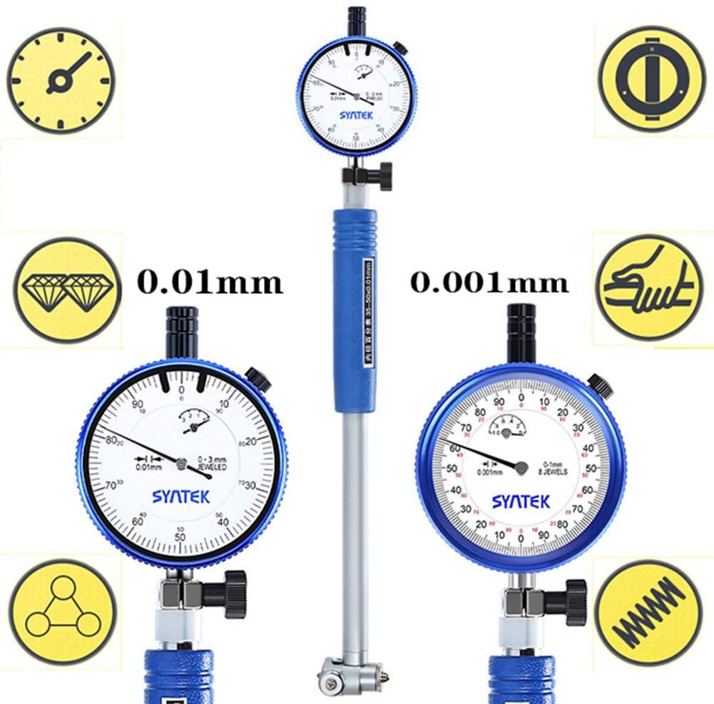 BIKEULTIMATE Inner Diameter dial Indicator Dial Bore Gauge 0.01mm 0.001mm Indicator Inner Diameter Measuring Internal Measuring Instrument Inside,250~450mm(0.01mm)