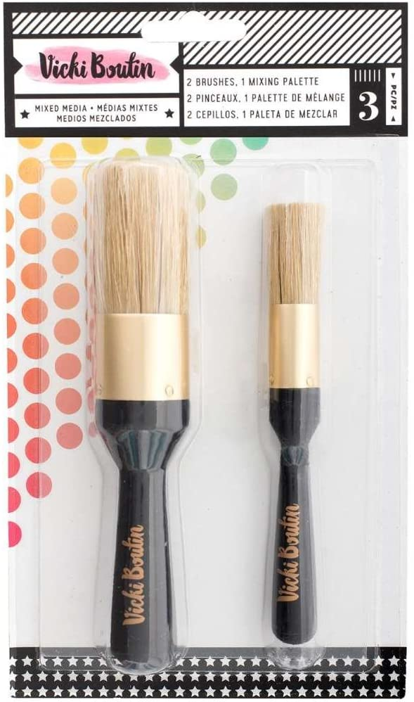 AMERICAN CRAFTS VICKI B STENCL BRUSH GOOD THNGS, Multicolor