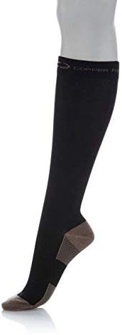 Copper Fit Knee-High Compression Socks 2-Pack (Black) Small/Medium