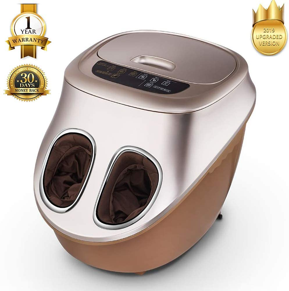 ALUCE Shiatsu Foot Massager with Foot Spa and Massager Heat - Electric Foot Massage Machine with Air Compression Rolling Kneading Massage and Foot Warmer