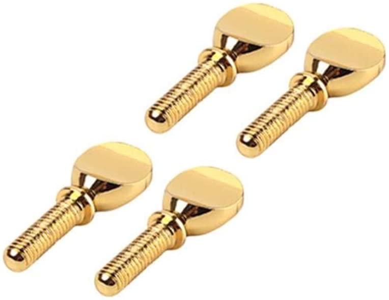 DishyKooker 4pcs Gold Clip Screw for Alto Saxophone Mouthpiece Ligature Musical Instrument Accessories