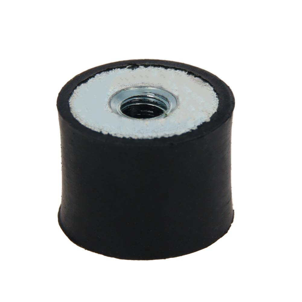 MroMax 3Pcs M6 DD Type Rubber Shock Absorber Screws Anti Vibration Lsolator Mounts (20×15mm(D x H))