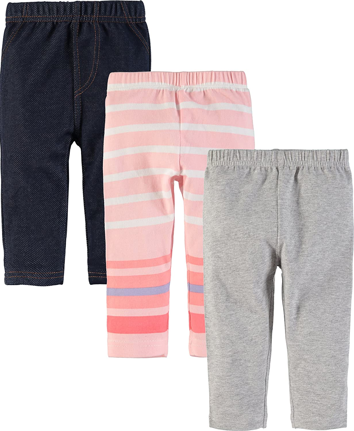 Wan-A-Beez Baby Boys' and Baby Girls' 3 Pack Pants