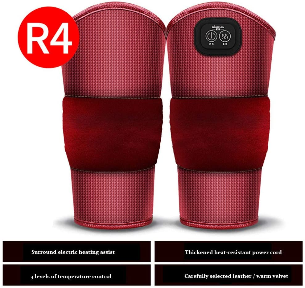 Heating Pad Knee with Motor Massage,Heated Knee Massager Cold Protection Warm Moxibustion Hot Massager 3 Level Heat Massage Pain Relief