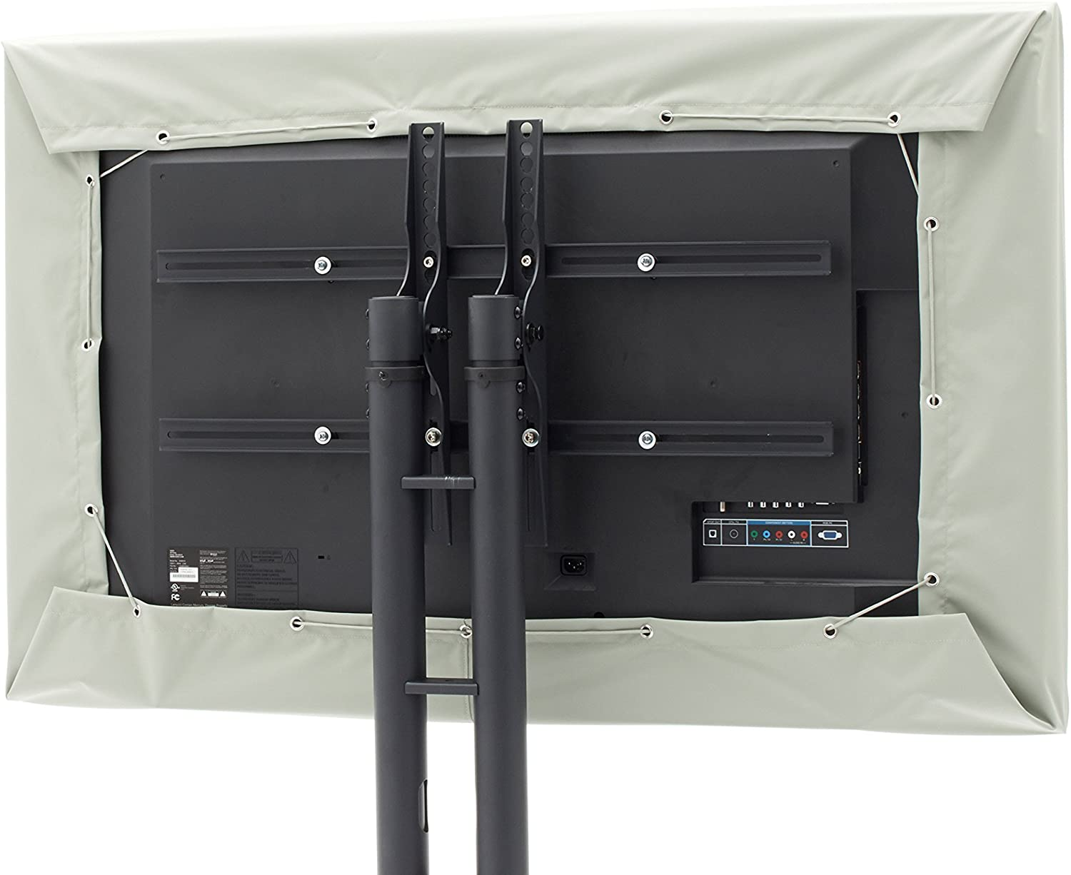 Covermates - Outdoor TV Cover - Fits 22 to 25 Inch TV's - Ultima - 300 Denier Fade Resistant Polyester - Half Coverage - Easy On And Off Draw Cord Closure - 7 Year Warranty - Water Resistant - Sage Green