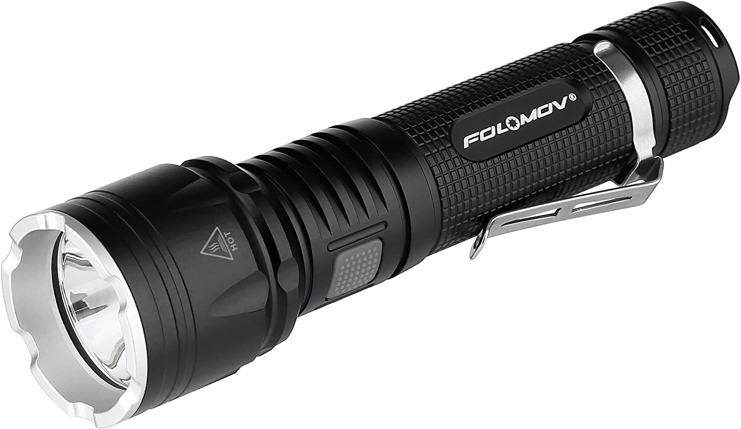 1200 Lumens 18650 Charge-discharge Focus Led Flashlight, XP-L V6 Led, 385 Yard Beam Distance, Power bank and Switch-lock Guard Function, 2600Mah Protected Battery and Holster Included,FOLOMOV TOUR B4M