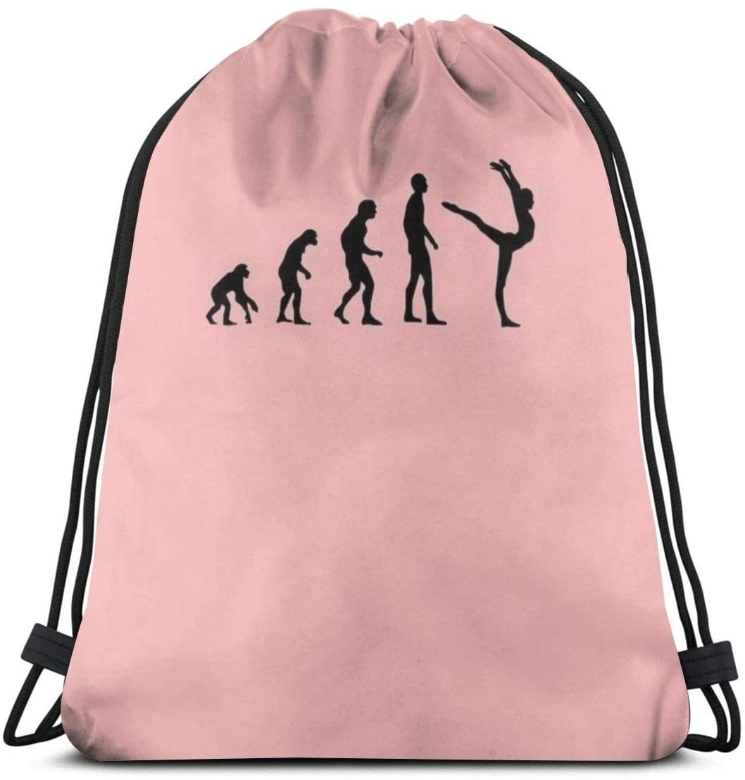Backpack Drawstring Bags Cinch Sack String Bag Evolution Gymnastics Sport Sackpack For Beach Sport Gym Travel Yoga Camping Shopping School Hiking Men Women