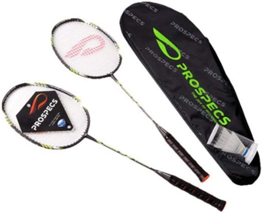 ProSpecs Badminton Racket Set with Diamond Head Frame Black PRIMARY250 Gold