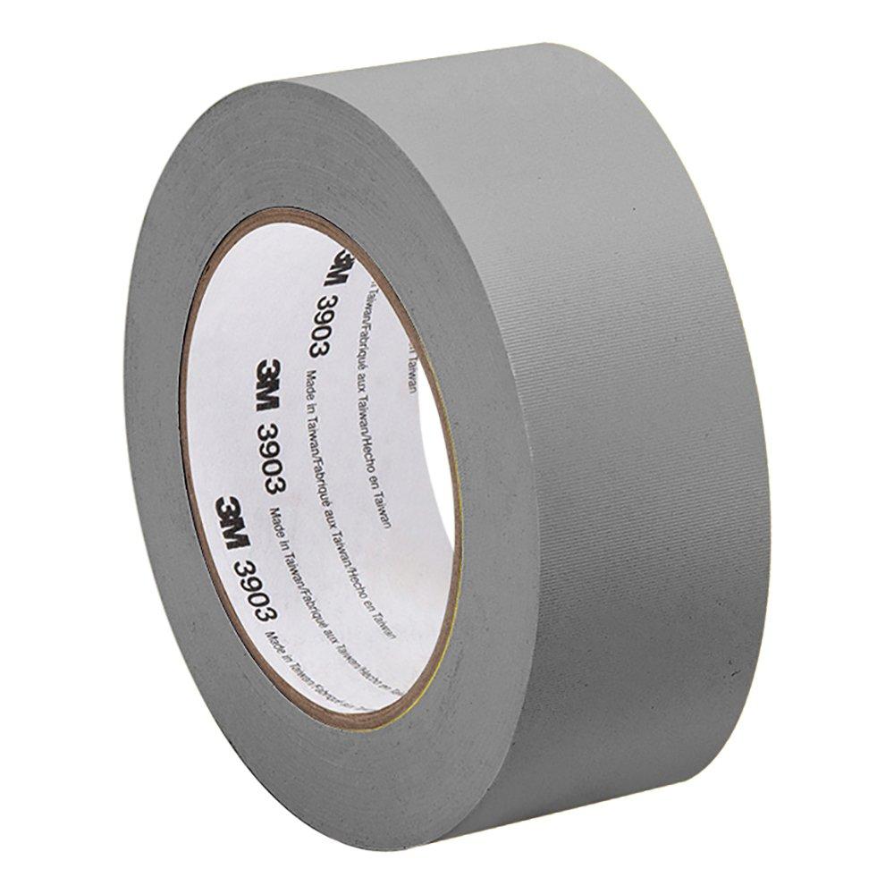 3M Grey Vinyl/Rubber Adhesive Duct Tape 3903, 3-50-3903-GREY 12.6 psi Tensile Strength, 50 yd. Length, 3 Width