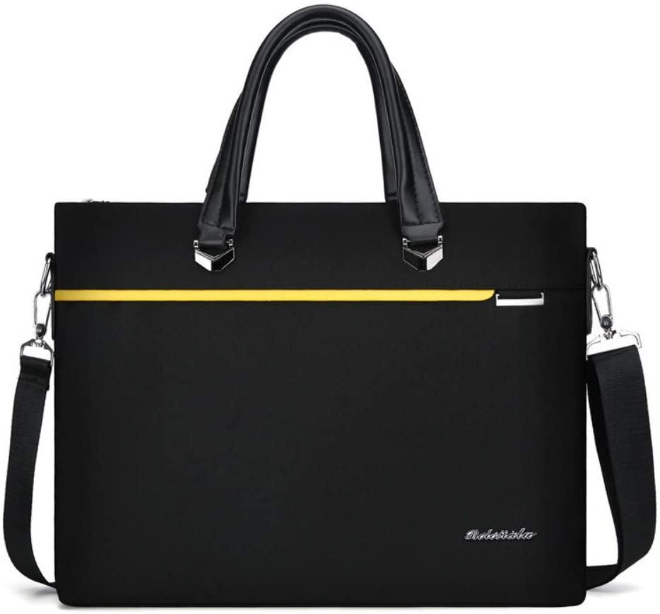 Hand-Held Notebook Computer Bag Light Briefcase Business Large Capacity Handbag Ultra-Thin Computer Bag,Black