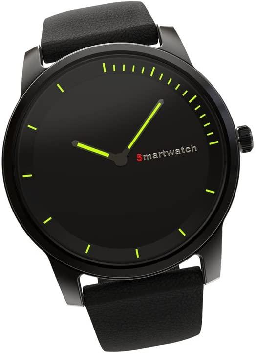 smart watch Round screen Bluetooth  IP68 waterproof Charging Quartz movement S68 ( Color : Black )