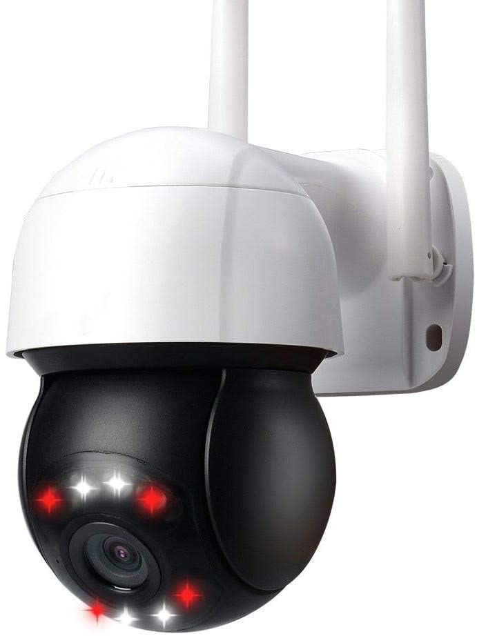 N/P 3 Million Pixel Wireless WiFi Motion Detection Automatic Cruise Dome Camera, Mini Camera, Automatic Tracking Recording Webcam, Waterproof PTZ Control Mobile Video Surveillance