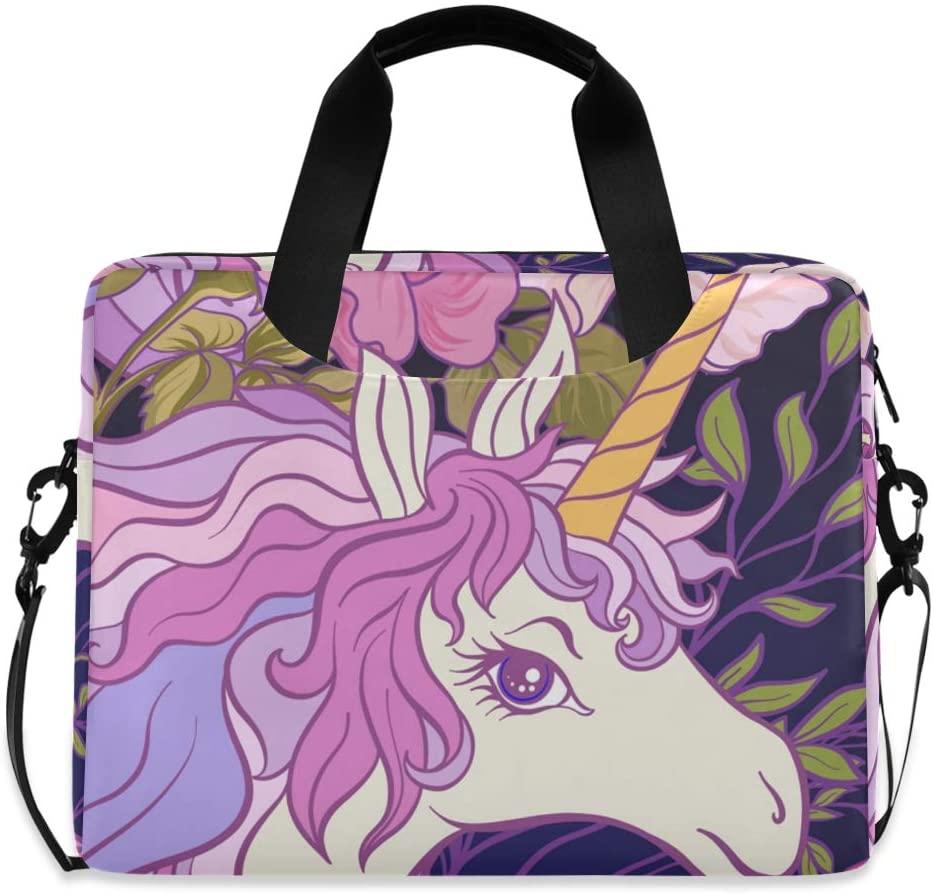 Laptop Bag, Unicorn Rosee Butterflies Laptop Briefcase Bag, 16 Inch Slim Laptop Backpack Laptop Case