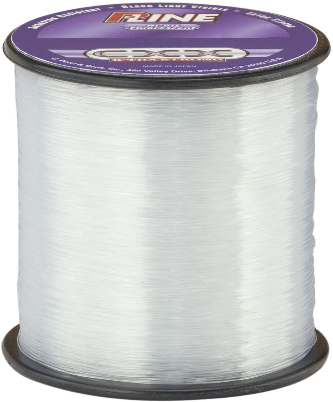 P-Line CXX-Xtra Strong High Visibility Clear Fluorescent Fishing Line 1/4# Spool