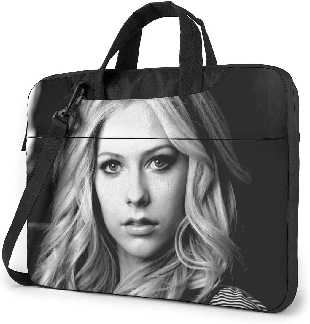 N/C Avril Lavigne Waterproof Laptop Shoulder Messenger Bag, Computer Protective Case, Briefcase, Unisex, Exquisite Style.15.6 Inch