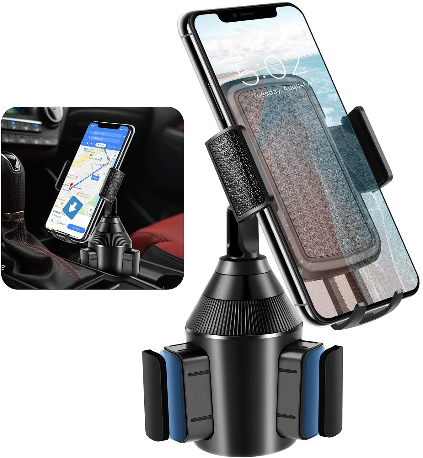 Cup Holder Phone Mount,Adjustable Universal Smart Car Cell Phone Mount for iPhone 11 Pro/XR/XS Max /8/7/6 Plus,Samsung Galaxy S10/S9/S8 Note 9 Sony/HTC-[2020 Upgraded Cup Holder Cradle]