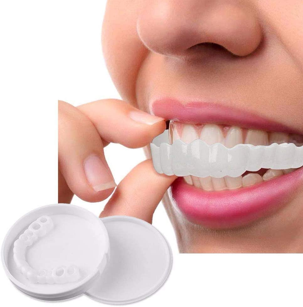 5 Pairs Top and Bottom Teeth Whitening Flex Denture Cover Smile Instant and Confident in Minutes for Irregular Stained Missing and Chapped Teeth