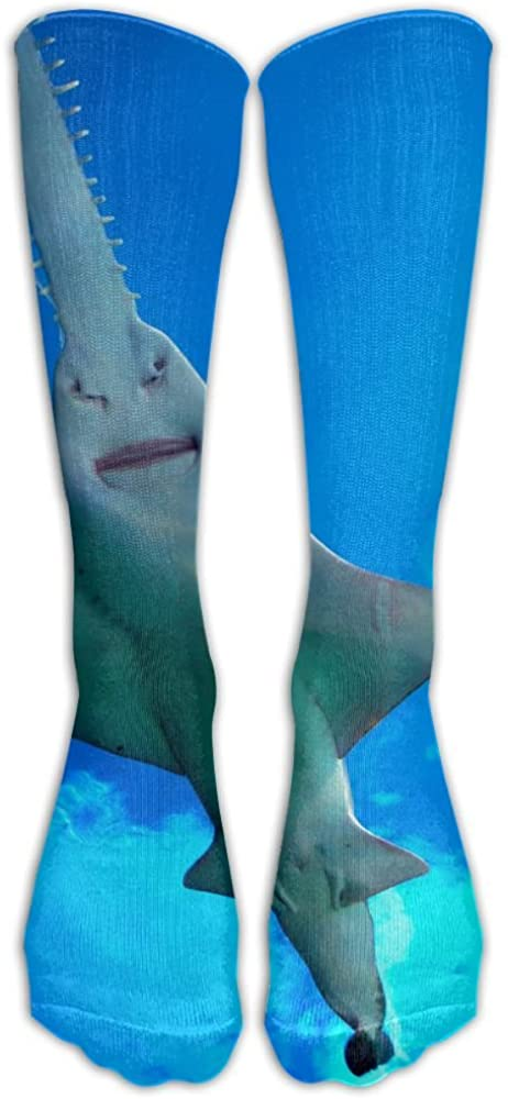 ZWZ Socks Strange Shark Cool Patterned Stockings Long Knee High Stockings Tights One Size
