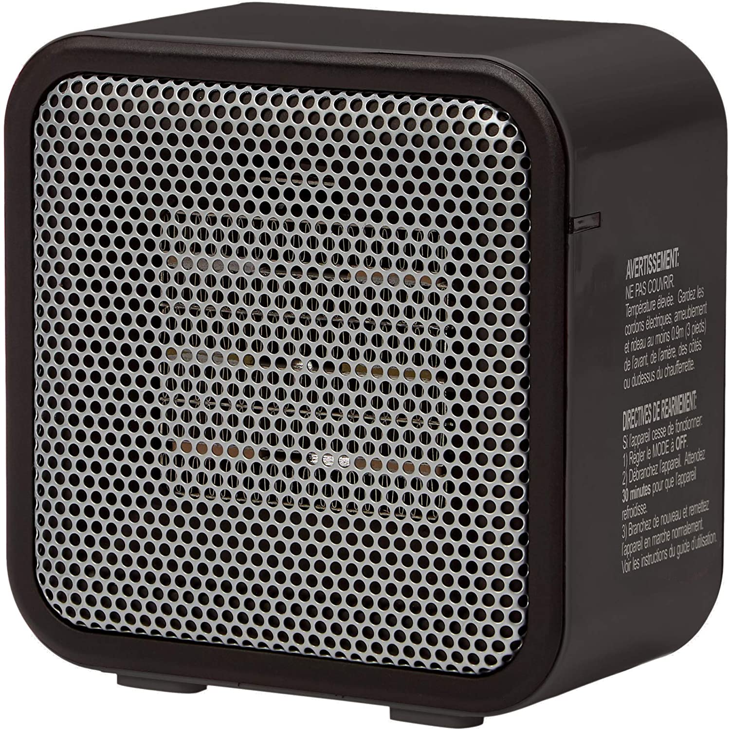 DHgateBasics 500-Watt Ceramic Small Space Personal Mini Heater - Black