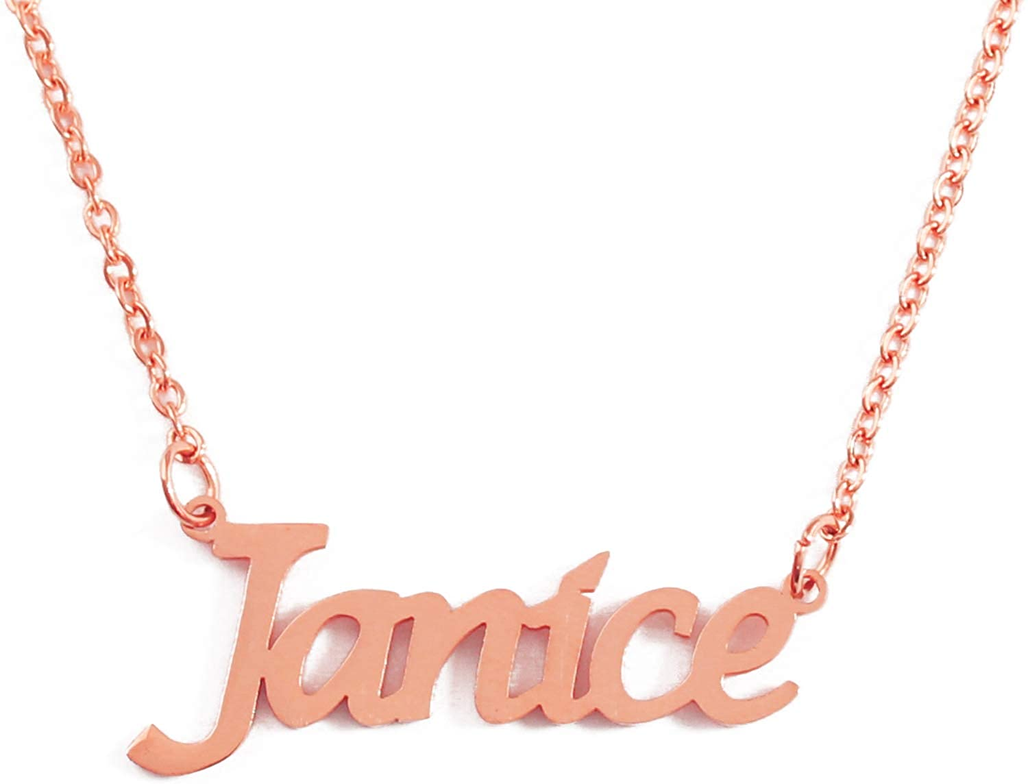 Kigu Janice Custom Name Necklace Personalized - 18ct Rose Gold Plated