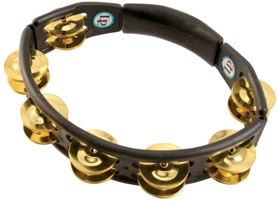 LP170 Cyclops, Brass Jingles, Black, Hand Held Tambourine