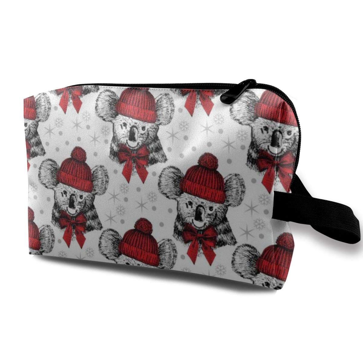 Koala Hat Toiletry Bag Multifunction Cosmetic Bag Portable Makeup Pouch Travel Organizer Bag For Women Girls