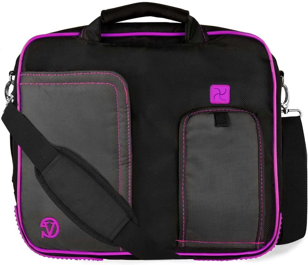 Pindar Messenger Bag for 11 to 13.3 inch Asus Vivo, ChromeBook, Transformer, Zen, U Series (Plum)