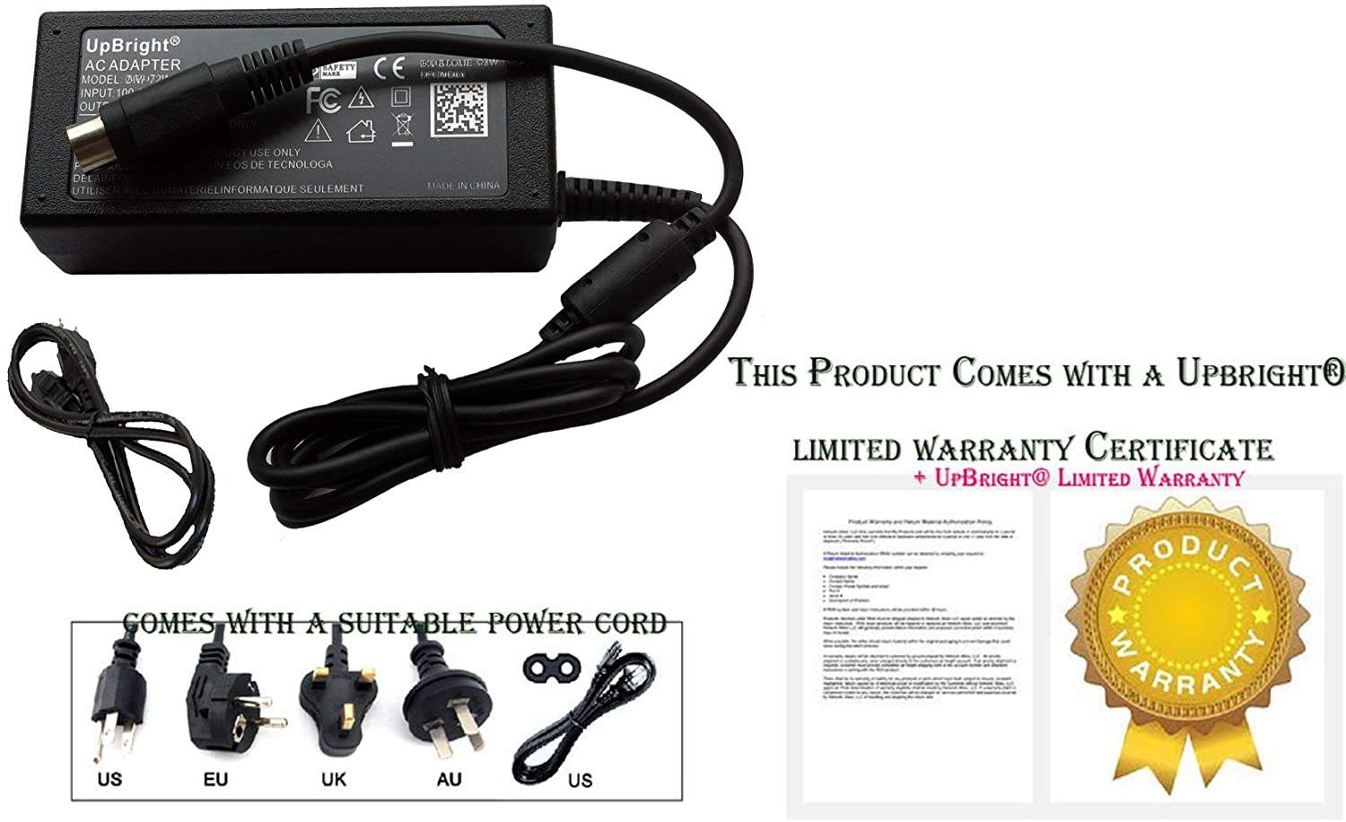 UPBRIGHT New AC/DC Adapter for EPSON C31C518653 TM-U220PD POS Printer Power Supply Cord Cable PS Charger Input: 100-240 VAC 50/60Hz Worldwide Voltage Use Mains PSU