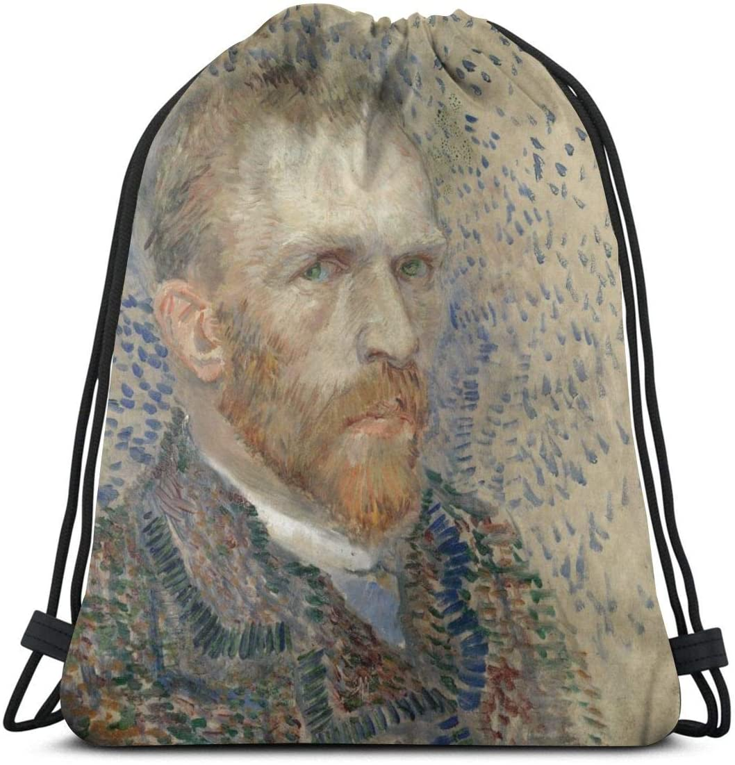 Backpack Drawstring Bags Cinch Sack String Bag Van Gogh Self-Portrait1234 Sackpack For Beach Sport Gym Travel Yoga Camping Shopping School Hiking Men Women