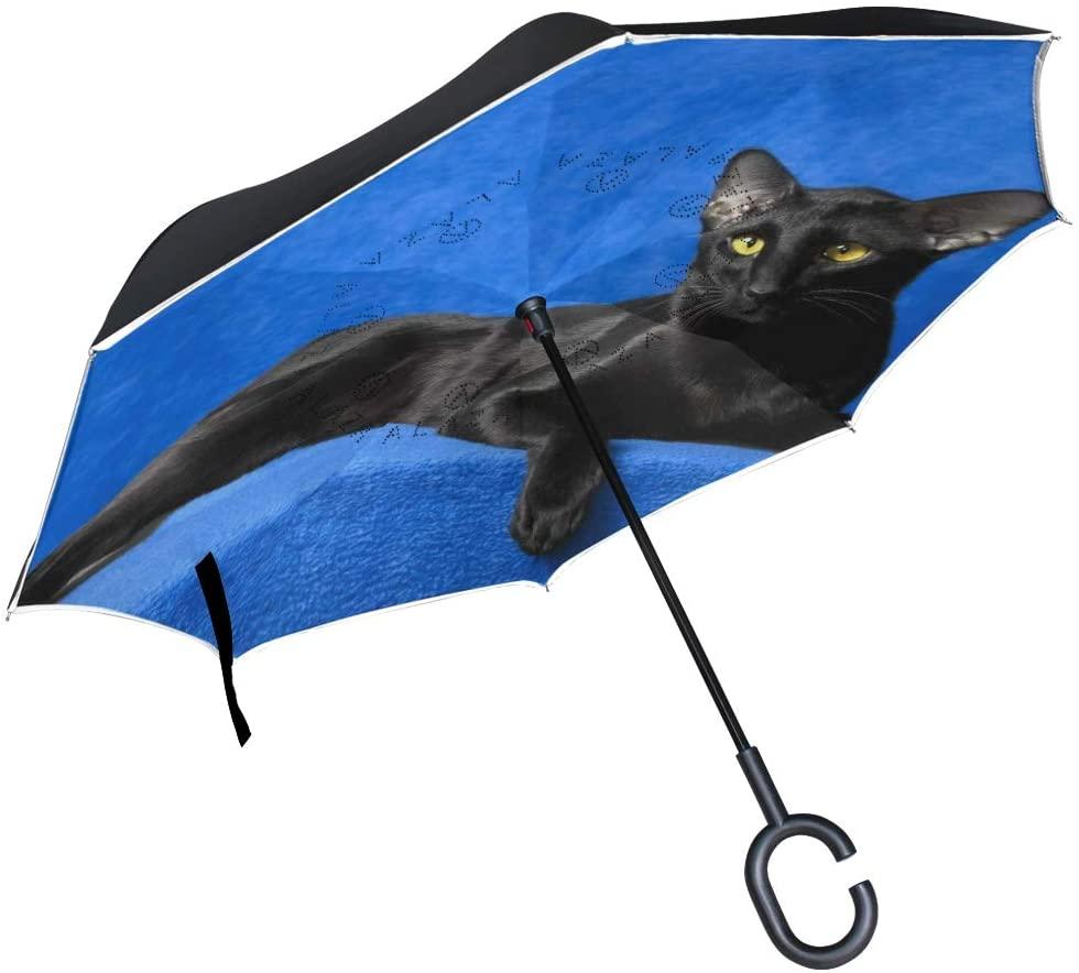 Bike Tree Hearts Inverted Umbrella Double Layer Windproof UV Protection Compact Car Reverse Umbrella
