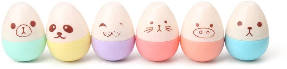 MOMU 6 Pcs Mini Leaves Eggs Shaped Highlighter Pens for Writing