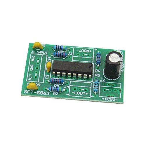 1 Piece LM4863 Small Power Amplifier Board 3-5V Power Amplifier Module USB Power Supply Class AB Audio Amplifier 3 +3 W