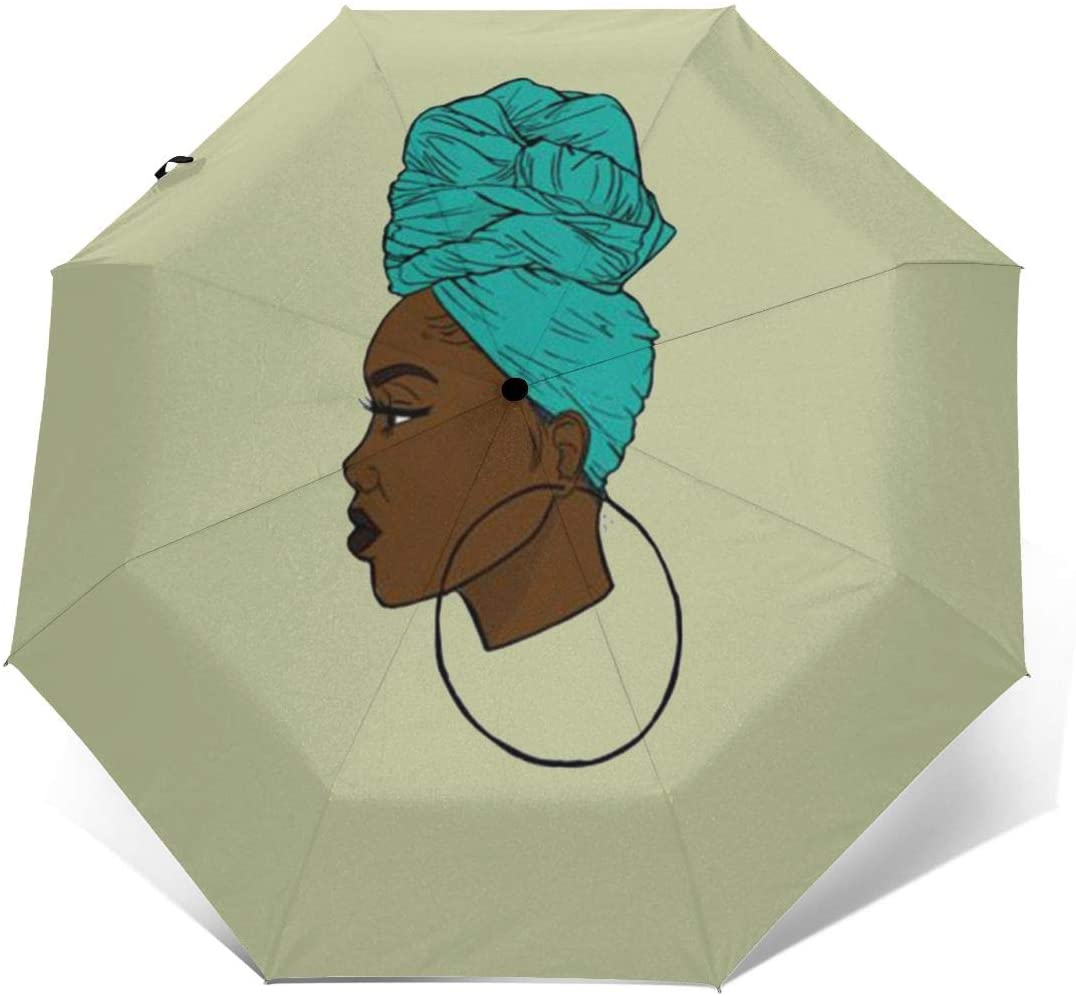 African Under Wraps Windproof Automatic Folding Umbrella Tri-fold Umbrella