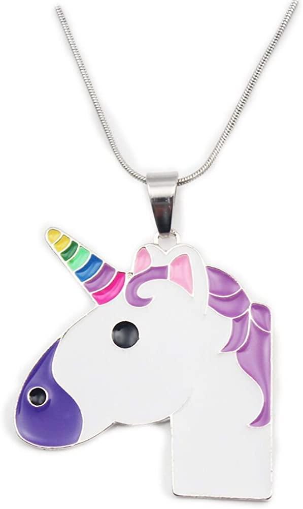 Artvine Unicorn Birthday Gifts Necklace Baby Girl Chunky Necklace