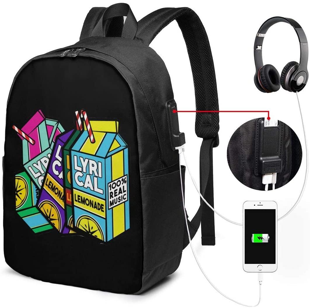 Lyrical Lemonade Laptop Backpack for Men/Women Travel Bag USB Charging