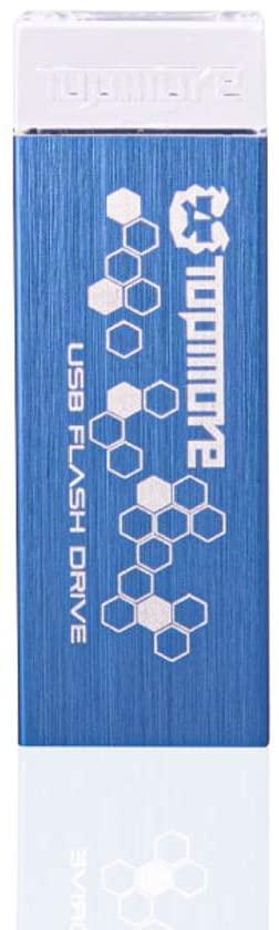 TOPMORE AI Series Aluminum USB 3.0 Flash Drive | Portable Memory Stick for Data Storage | Waterproof, Dustproof, Shockproof, Anti-dust, Antistatic (32GB, Blue)